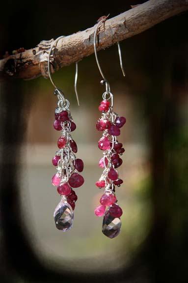 Ruby amethyst earrings vignette