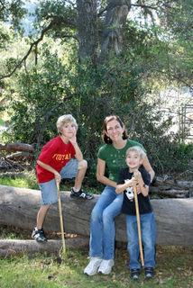1casper's park jan 17_kelly & boys on fallen tree