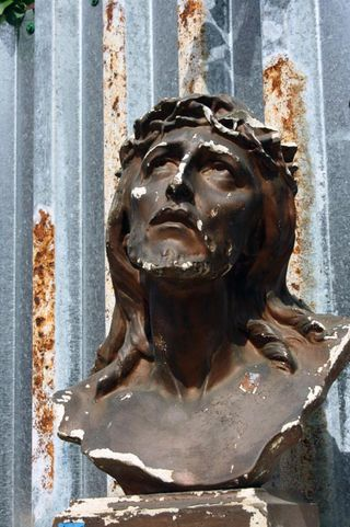 Salvage yard_Jesus bust