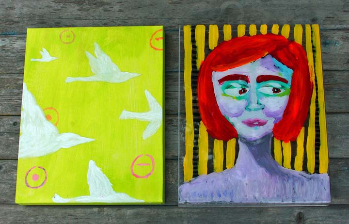 Acrylic box painting_side by side