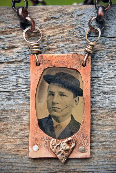 Etched copper frame with tintype_front detail