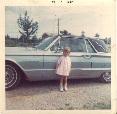 Kelly 1968 with the blue Thunderbird