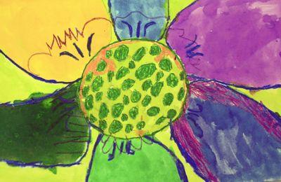 Finn's art class open house_7_22_09 FS large flower