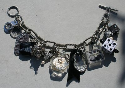 B&W charm bracelet amber dawn, judith, ruth, catherine, jess, martha, and mija