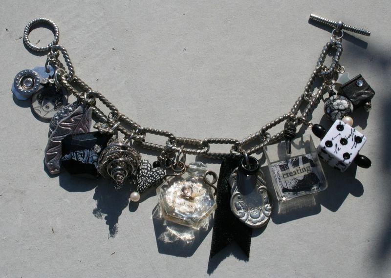 B&W charm bracelet amber dawn, judith, ruth, catherine, jess, martha, and mija