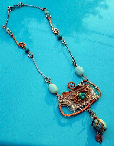Hammered copper kelly, judy, ruth, joanna necklace