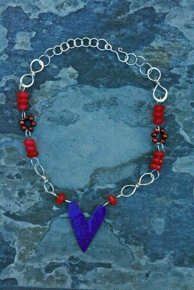Heart necklace_china pink_blue side up