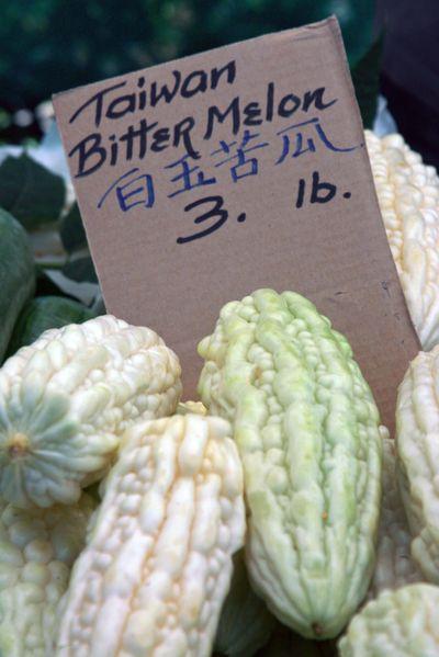 Farmer's market sept 26_bitter melon