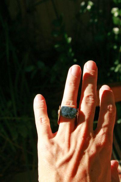 New rings_dark labradorite worn