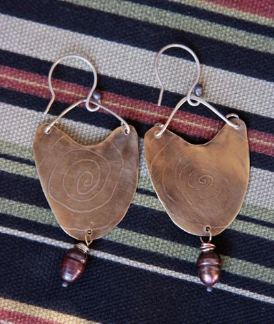 Etched brass earrings_back