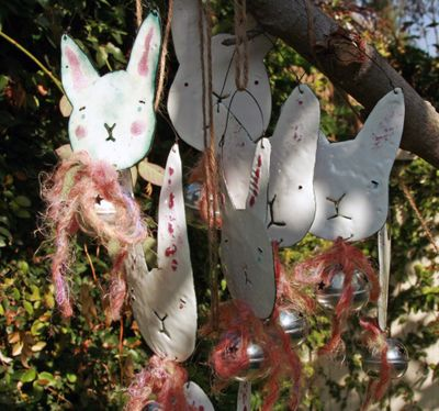 Rabbits hanging group