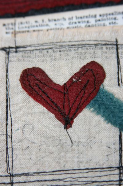 Ruth's number five heart detail