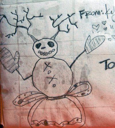 Snowman illustration on rr's