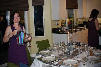 Progressive dinner_2009_liz and her pretty table