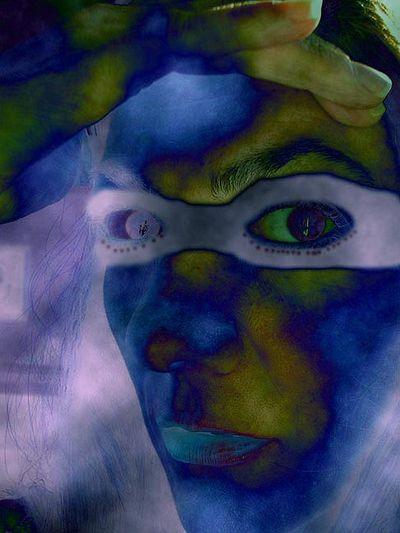 Masked lavender aura