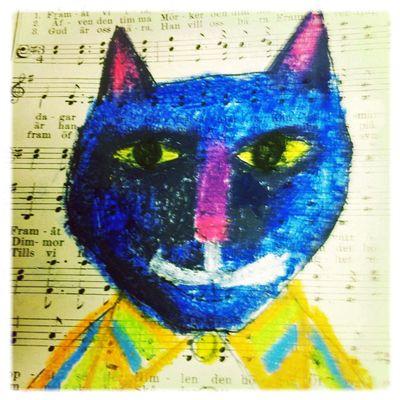 Blue cat head
