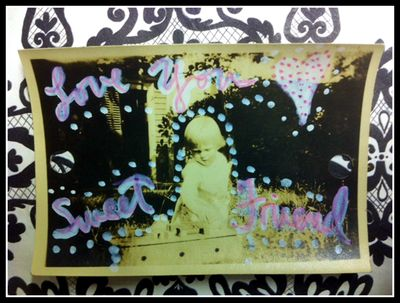 Gift tag with old photo