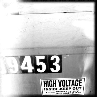 High voltage inside