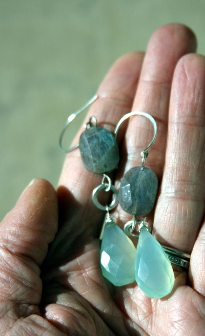 Labradorite_and_chalcedony_earrings