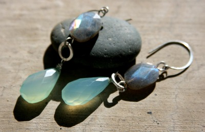 Labradorite_chalcedony_earrings_on_